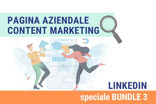 Linkedin Bundle 3 | Pagina aziendale e Content marketing